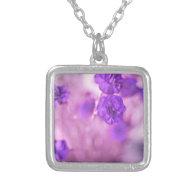 Tiny Purple Flowers Necklaces