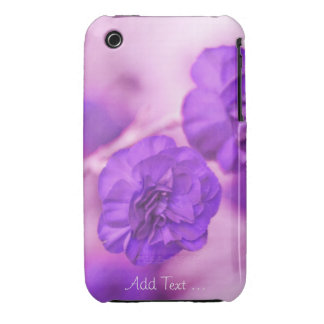Tiny Purple Flowers Personalized iPhone 3 Case