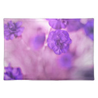 Tiny Purple Flowers Place Mat