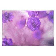 Tiny Purple Flowers Place Mat