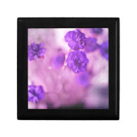 Tiny Purple Flowers Trinket Box