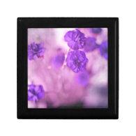 Tiny Purple Flowers Trinket Box