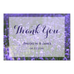 Tiny Purple Lavender Wedding Thank You Card