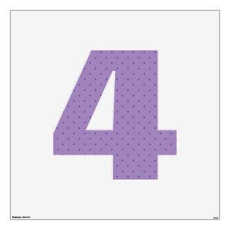 Tiny Purple Polka-Dots on Purple Wall Sticker