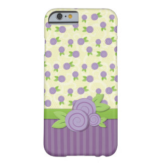 Tiny Purple Roses Barely There iPhone 6 Case