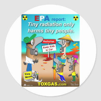 Tiny Radiation Classic Round Sticker