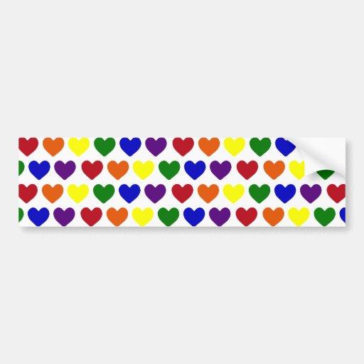 Tiny Rainbow Hearts Bumper Sticker