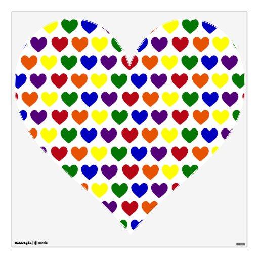 Tiny Rainbow Hearts Room Graphics