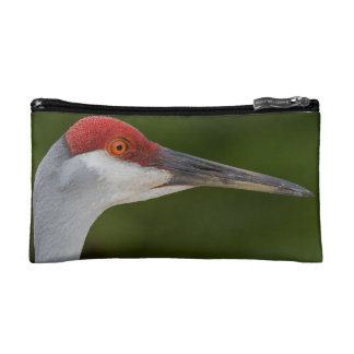 Tiny Red Feathers Makeup Bags