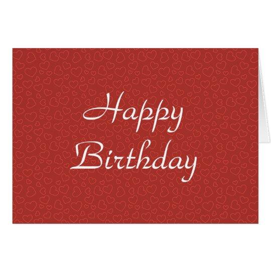 Tiny Red Hearts Birthday Card