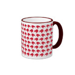 Tiny Red Kiwis Coffee Mugs