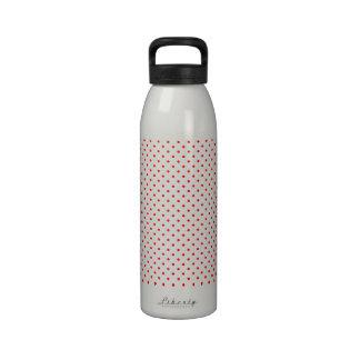 Tiny Red Polka Dot Pattern Reusable Water Bottles
