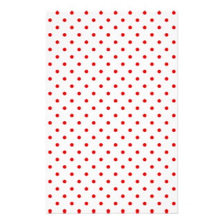 Tiny Red Polka Dots Stationery