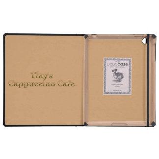 Tiny s Cappuccino Cafe Logo iPad Covers