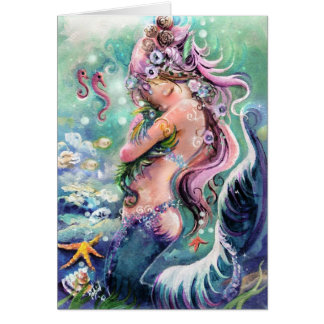 Tiny Sea Dragon & Mermaid card