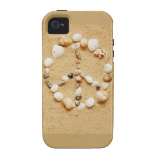 Tiny Seashell Peace Sign Case-Mate iPhone 4 Cover