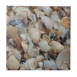 Tiny Shells Beach Sand Ceramic Tile