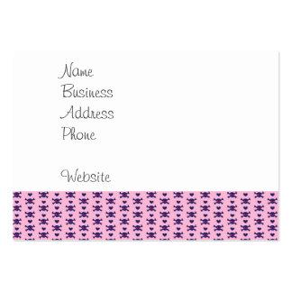 Tiny Skulls Hearts Pink Purple Punk Rock Pattern Large Business Card