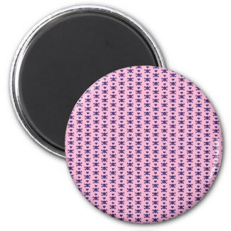 Tiny Skulls Hearts Pink Purple Punk Rock Pattern Magnet