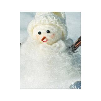 Tiny Snowman Canvas Print