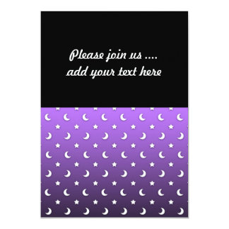 Tiny Stars and Moons on Purple Card