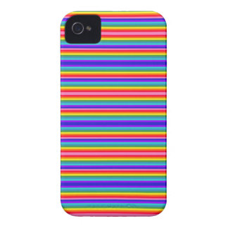Tiny Stripes of Rainbow Colors Case-Mate iPhone 4 Case