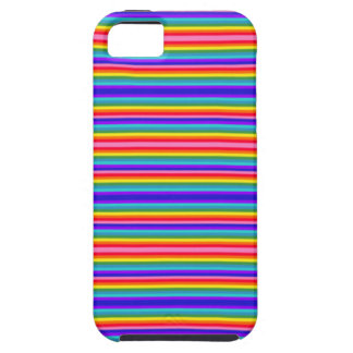 Tiny Stripes of Rainbow Colors iPhone SE/5/5s Case