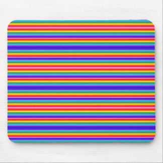 Tiny Stripes of Rainbow Colors Mouse Pad