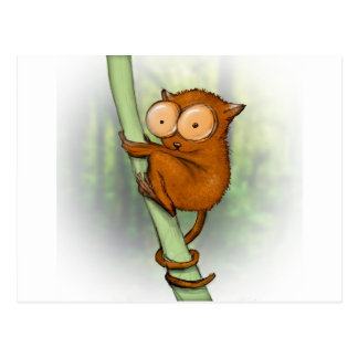 tiny tarsier postcard