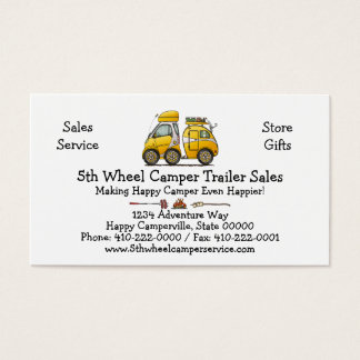 Tiny Tear Drop Camper Business Card