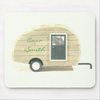 Tiny teardrop travel trailer Thunder_Cove Mouse Pad