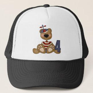 Tiny Teddy Bear 4th Birthday Gifts Trucker Hat