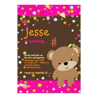 Tiny Teddy Bear/DIY background+text Custom Announcement
