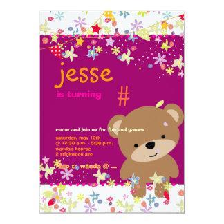 Tiny Teddy Bear Personalized Party Custom Invite