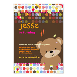 Tiny Teddy Bear Personalized Party Personalized Invitation