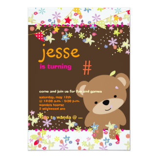Tiny Teddy Bear Personalized Party Personalized Invite