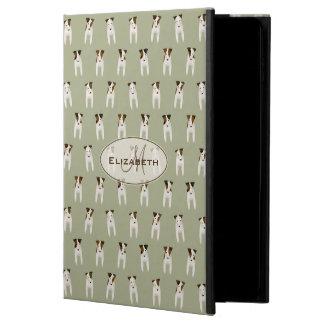 tiny terriers pattern jack russell monogram sage powis iPad air 2 case