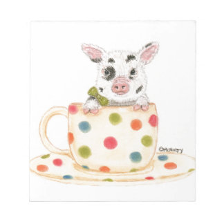 """Tiny""  The Teacup Pig Notepad"