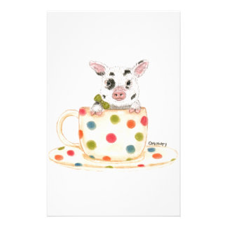 """Tiny""  The Teacup Pig Stationery"