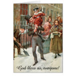 Tiny Tim and his Father by Harold Copping Greeting Card