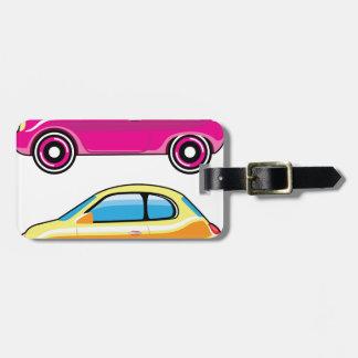 Tiny Tiny Small Car mini vehicle Vector Bag Tag