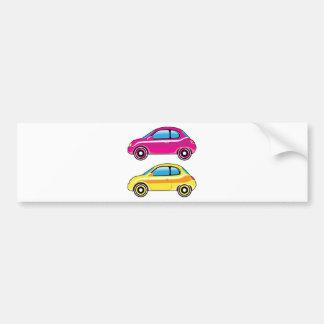 Tiny Tiny Small Car mini vehicle Vector Bumper Sticker