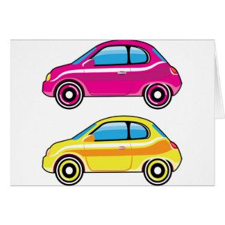 Tiny Tiny Small Car mini vehicle Vector Card
