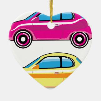 Tiny Tiny Small Car mini vehicle Vector Ceramic Ornament