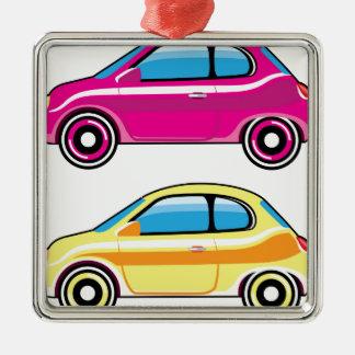 Tiny Tiny Small Car mini vehicle Vector Metal Ornament