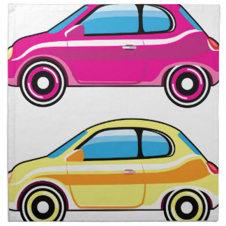 Tiny Tiny Small Car mini vehicle Vector Napkin