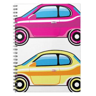 Tiny Tiny Small Car mini vehicle Vector Notebook