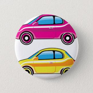 Tiny Tiny Small Car mini vehicle Vector Pinback Button