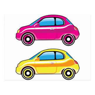 Tiny Tiny Small Car mini vehicle Vector Postcard