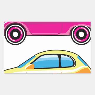 Tiny Tiny Small Car mini vehicle Vector Rectangular Sticker